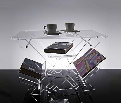 Tavolini Da Salotto In Plexiglass Prezzi.Slato Tavolino Basso Da Salotto Design Moderno In Plexiglass