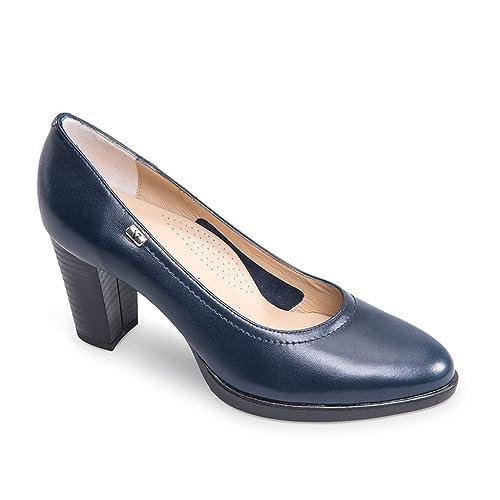 VALLEVERDE Scarpe Donna décolleté in Pelle blu V15006-BLU  Amazon.co.uk   Shoes   Bags 39c2990d657