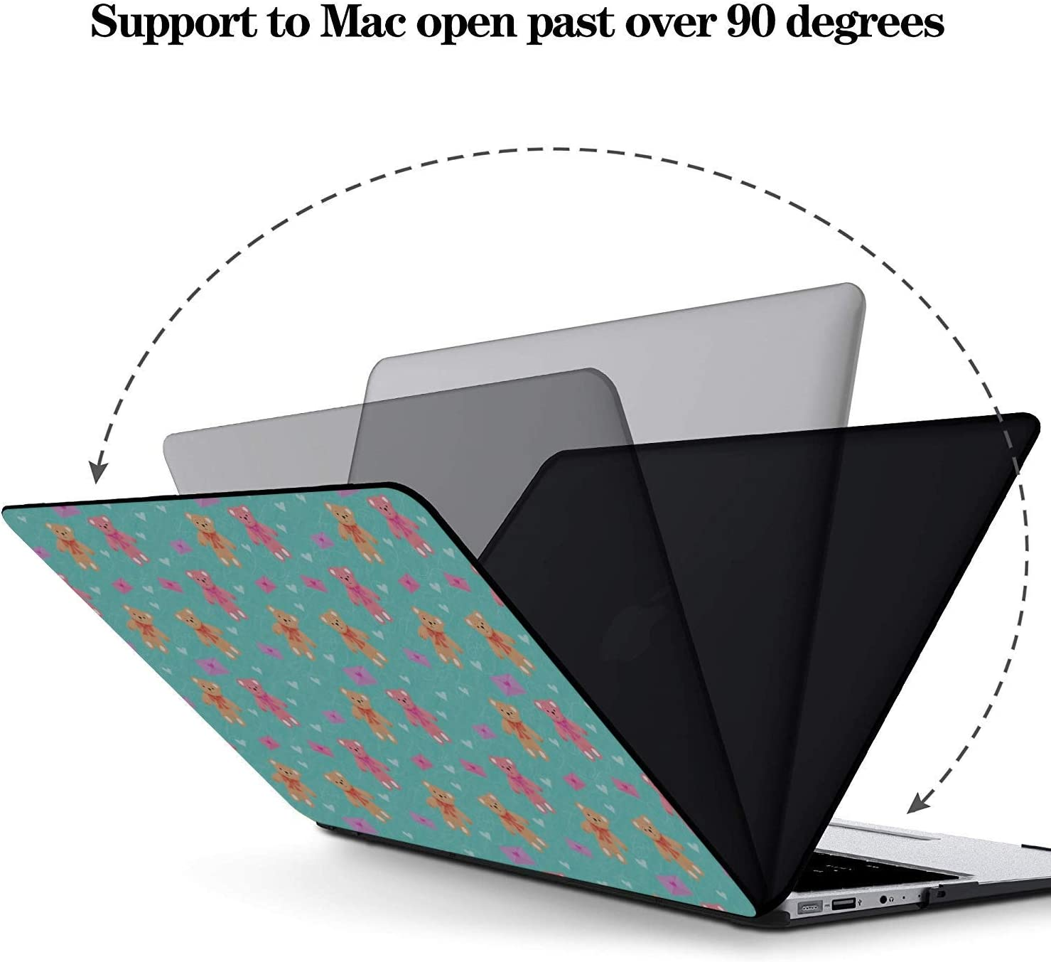 Mac Air Laptop Case Simple Creative Fashion Painting Plastic Hard Shell Compatible Mac Air 11 Pro 13 15 2018 MacBook Pro Case Protection for MacBook 2016-2019 Version