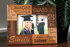 Qualtry Personalized Engraved Graduation Picture Frame - Class of 2019 Graduation Gift