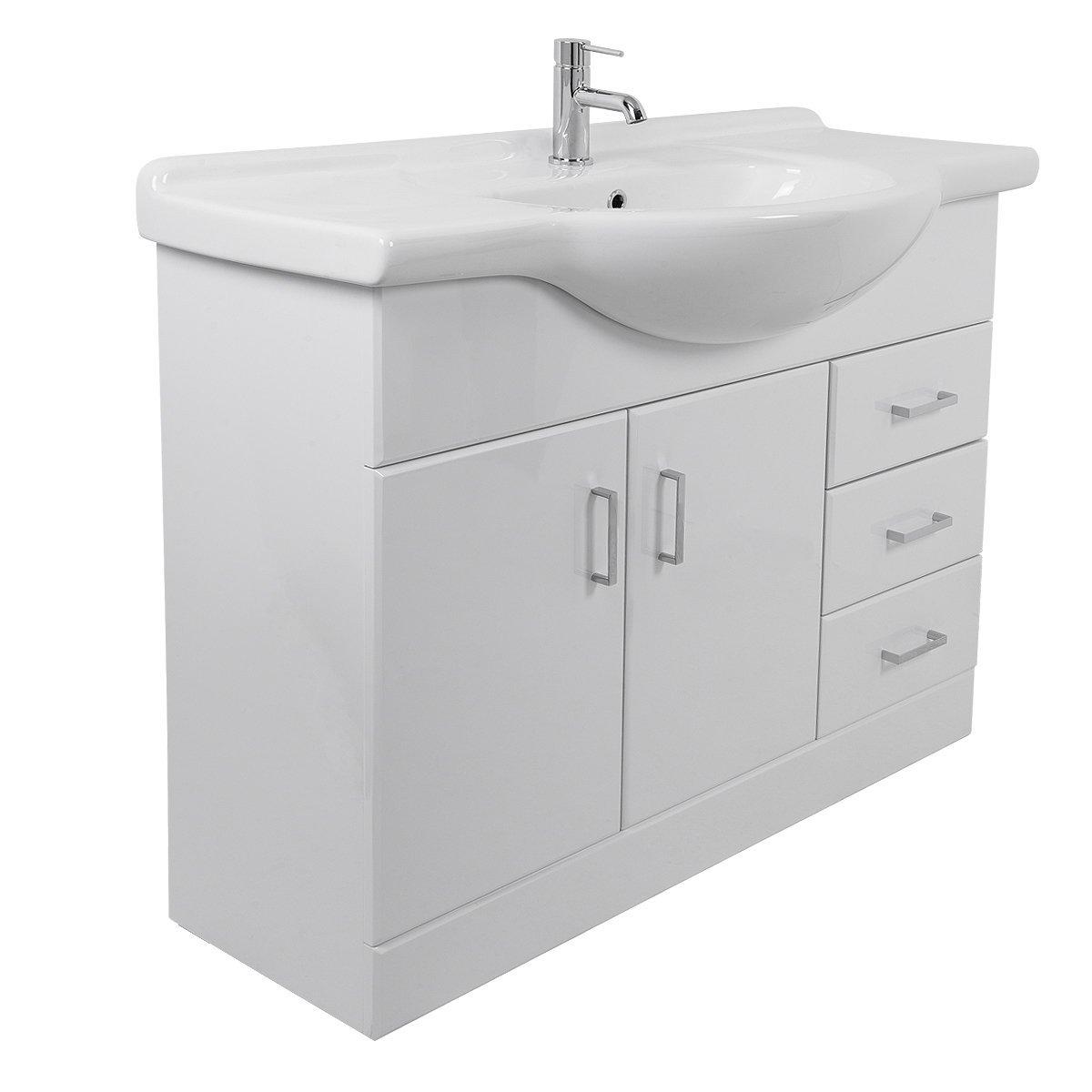Aquariss Absolute White Vanity Unit Basin - 1200mm