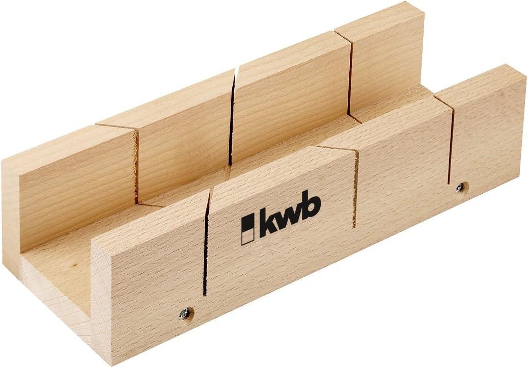 kwb Schneidlade 311026 Mehrschichtholz, 245 x 53 x 40 mm, f/ür 45/° und 90/° Schnitte, Gehrungsschneidlade