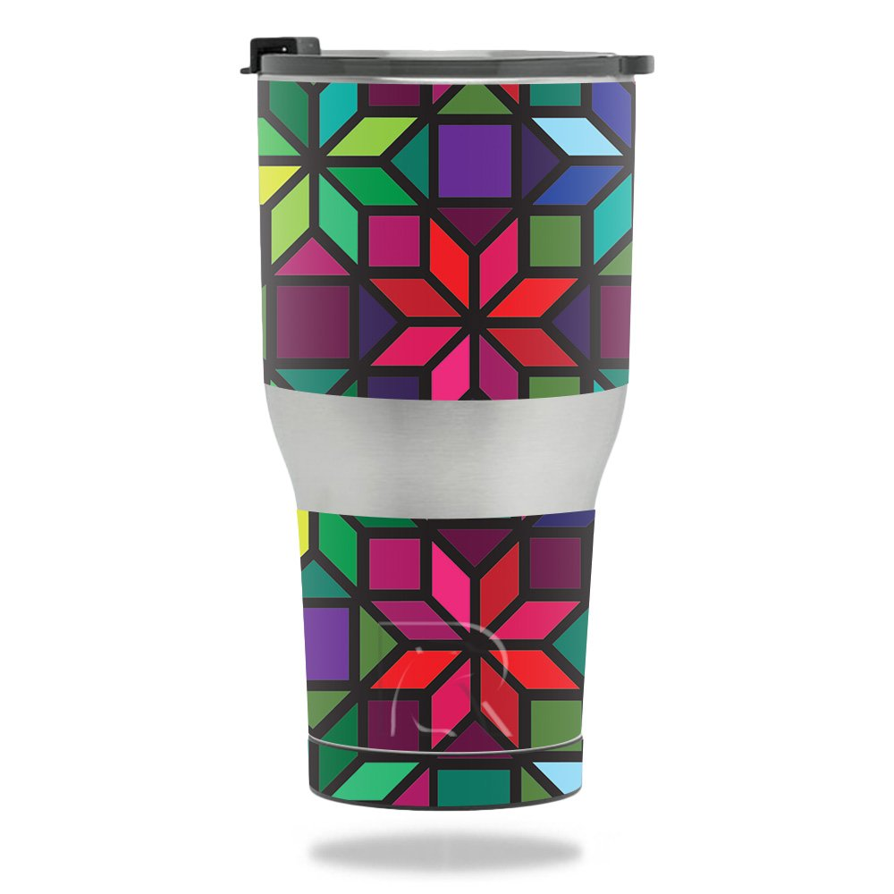 MightySkins Skin For RTIC Tumbler 30 oz. (2017) - Stained Glass Window | Protective, Durable, and Unique Vinyl Decal wrap cover | Easy To Apply, Remove, and Change Styles | Made in the USA