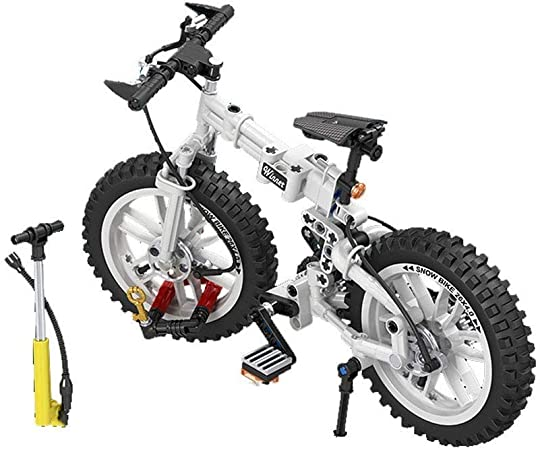GAOJIEJM Bloques de inserción de hechizos de Regalo de Bricolaje simulación mecánica Bloques de construcción mecánicos 1: 6 Rompecabezas de Bicicleta Plegable: Amazon.es: Hogar