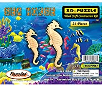 3-D Wooden Puzzle - Small Sea-Horse -Affordable Gift for your Little One! Item #DCHI-WPZ-H011 by All4LessShop