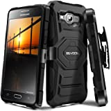 Galaxy J3 (2016) / J3 V / Express Prime Case, Evocel [New Generation] Rugged Holster Dual Layer Case [Kickstand][Belt Clip] For Samsung Galaxy J3 (J320) / J3 V / Amp Prime / Express Prime Case, Black