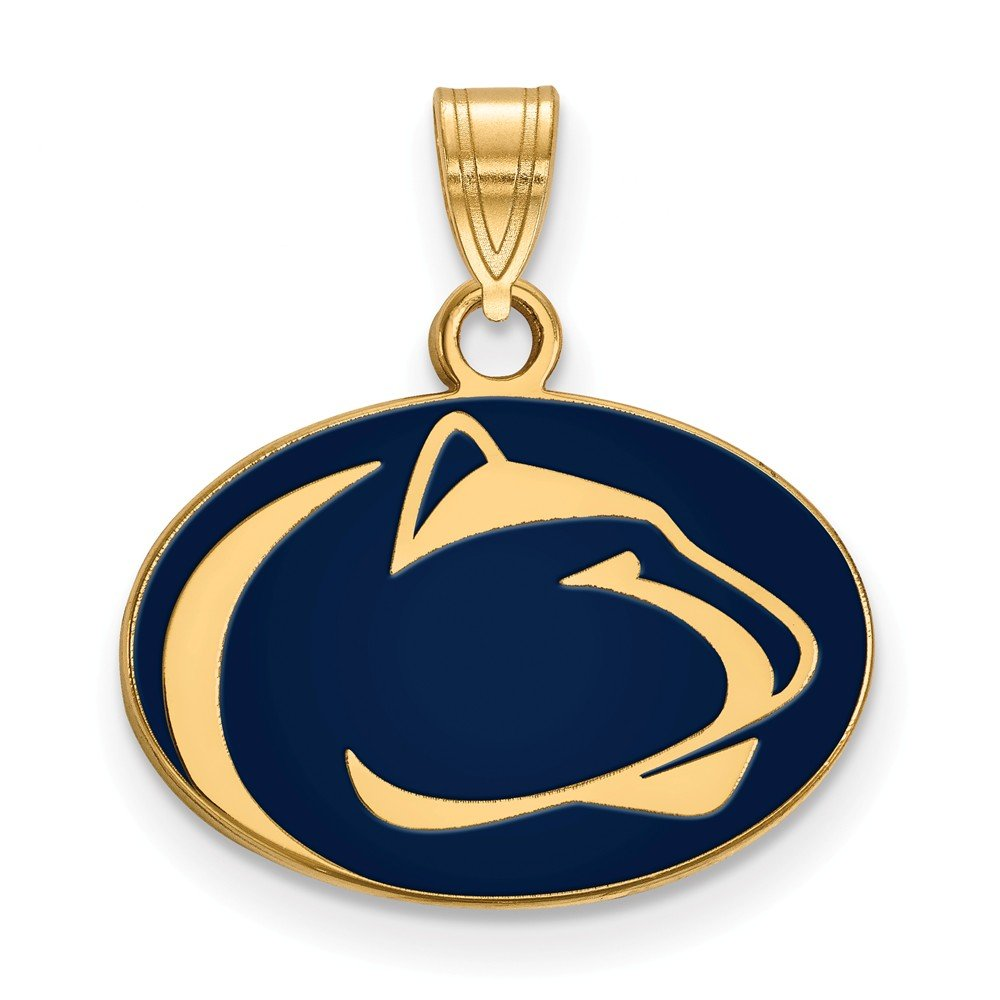 Jewel Tie 925 Sterling Silver with Gold-Toned Penn State University Small Enamel Pendant