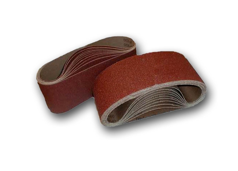 20 pieces of sanding belts 75 x 533 mm grain size 4 x 40//06//80//120//180 for belt sanders fabric sanding belts