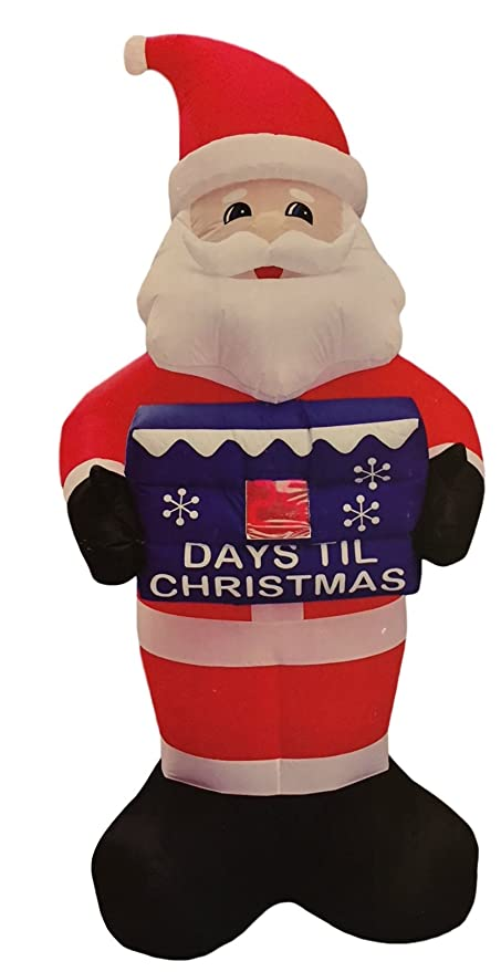 Until Christmas 99 Days Till Christmas.Santa Christmas Countdown Inflatable 8 Feet Tall Count Down Up To 99 Days