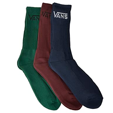 a6a682a823bc5d Vans Classic Crew evergreen Pack of 3 Socks size L XL  Amazon.co.uk   Clothing