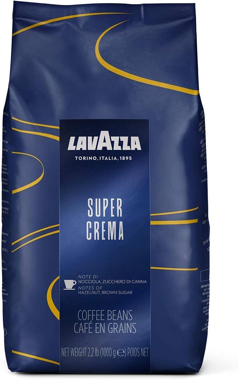 Lavazza Espresso Super Crema, Café en Grano, pack de 8, 8 x 1000g: Amazon.es: Hogar