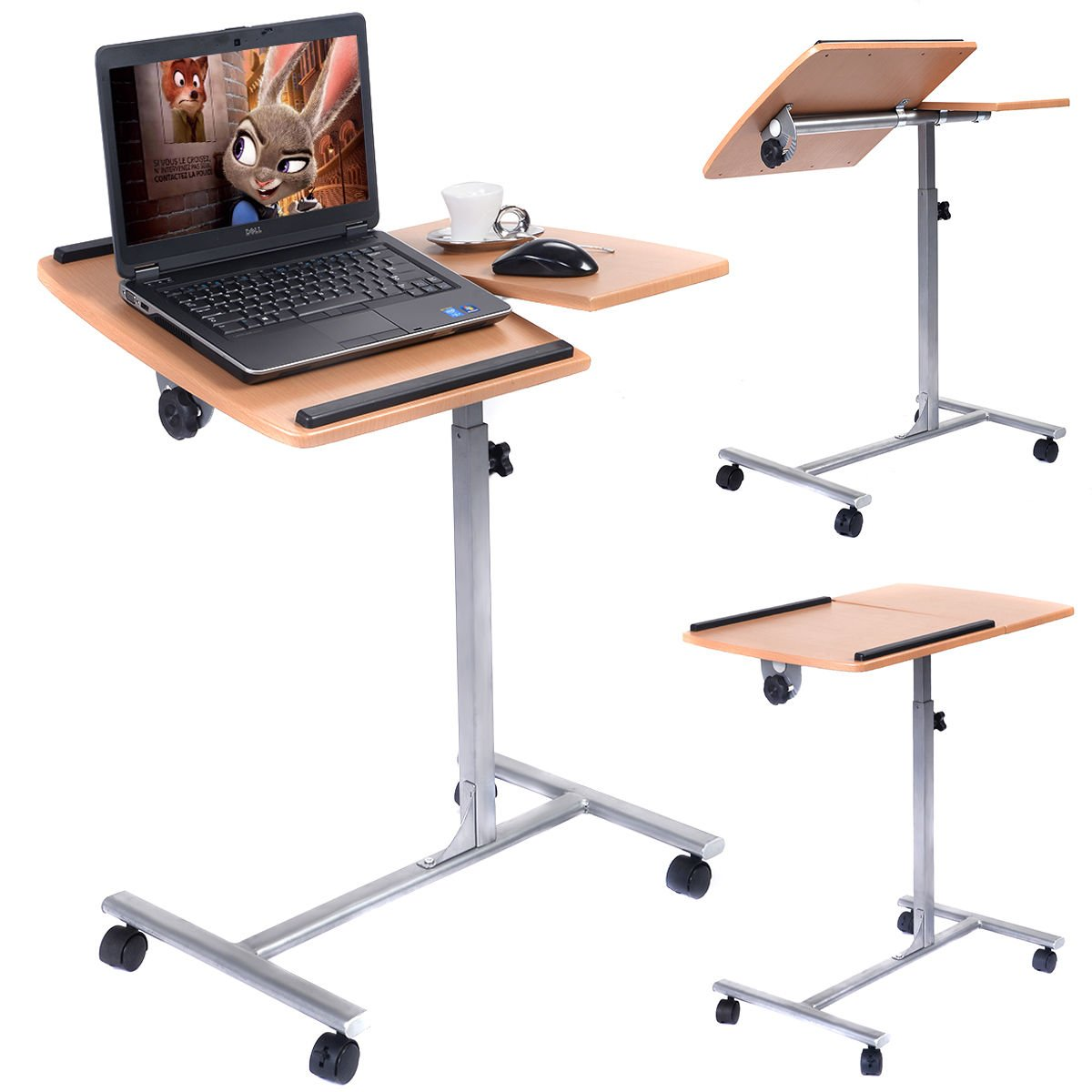 office desk laptop computer notebook mobile. Interesting Office Amazoncom  Adjustable Laptop Notebook Desk Table Stand Holder Swivel Home  Office Wheels Products With Computer Mobile K