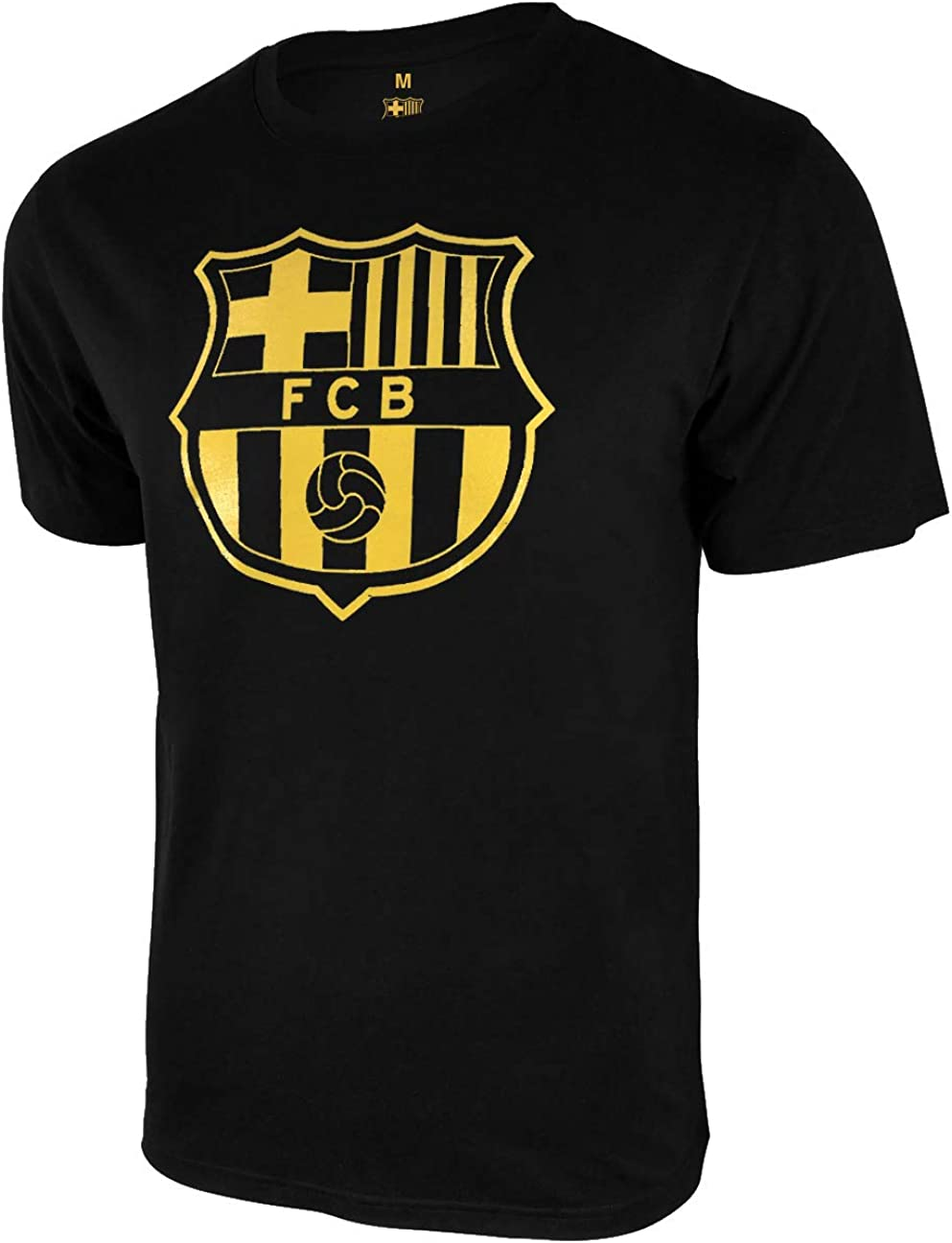 02 Icon Sports Men FC Barcelona Officially Licensed Soccer T-Shirt Cotton Tee