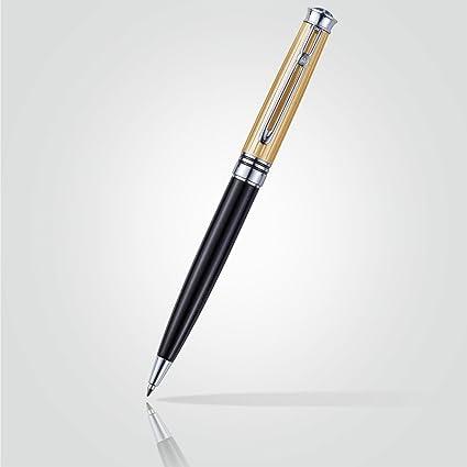 En caja de regalo blasticks Exceutive Darwin lacado negro estriado bolígrafo Parker recambios oro: Amazon.es: Oficina y papelería