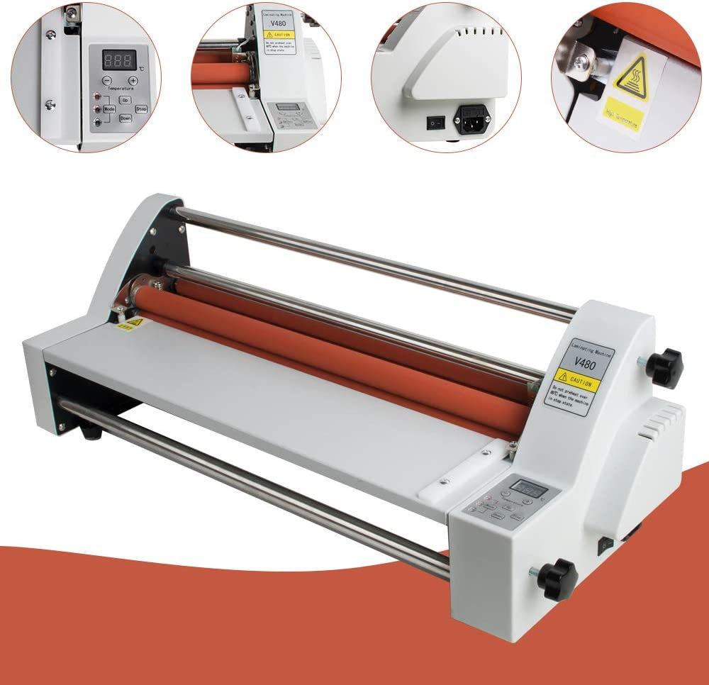 Laminator Machine vinmax Hot & Cold Roll Laminating Machine 18'' Single & Dual Sided laminator for Home Office Use