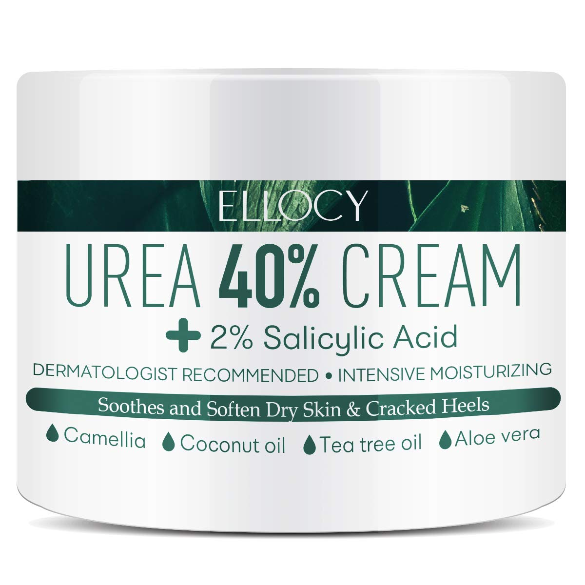 Ellocy Urea 40% Foot Cream Plus Salicylic Acid 4.2 Oz, Best Callus Remover - Moisturizes and Rehydrates Feet, Knees & Elbows - For Thick, Cracked, Rough, Dead & Dry Skin