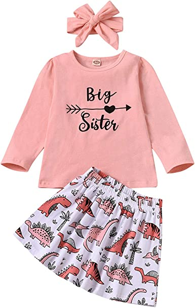 Cute Baby Kid Girl Little Big Sister Match Clothes Romper Jumpsuit T-shirt Tops