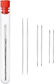 19 Stück Big Eye Edelstahl Perlennadeln Augen Perlen Nadeln mit Nadel