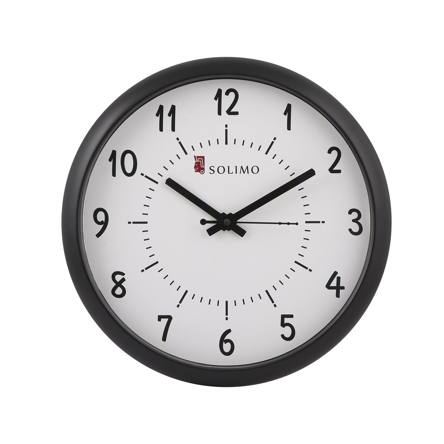 Buy solimo 11 inch wall clock step movement black frame online buy solimo 11 inch wall clock step movement black frame online at low prices in india amazon amipublicfo Image collections