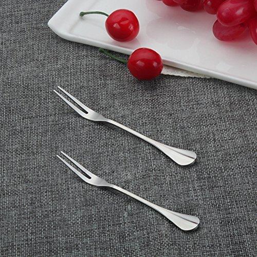 4-Piece Pickle & Olive forks, Stainless Steel Pickle Olive Picker Set