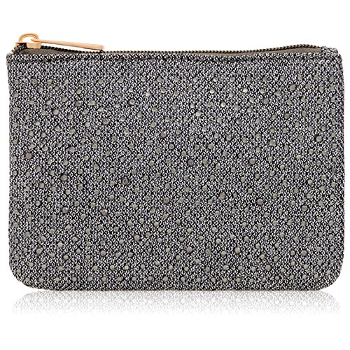 Clutch Make Bridal Diamante Evening For Glitter Women Zip phone Up Pouch Ladies I Grey Up Purse Mobile Xardi Fits Bags Wedding London Party Canvas 6IvqFF