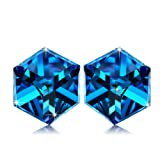 "Amazon Price History for:NINASUN ""Hooked On You"" 925 Sterling Silver Change Color Cube Stud Earrings Made with Swarovski Crystals"