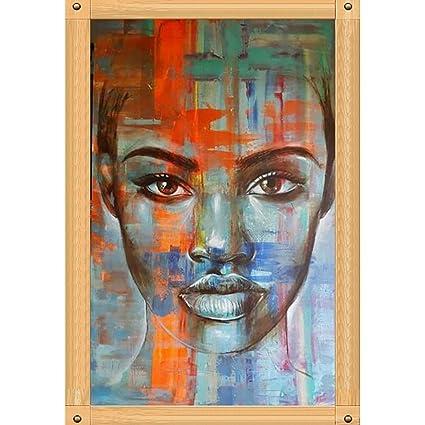 Femme Africaine 5D Peinture En Diamant DIY Point De Croix En Résine  Décoration De Maison