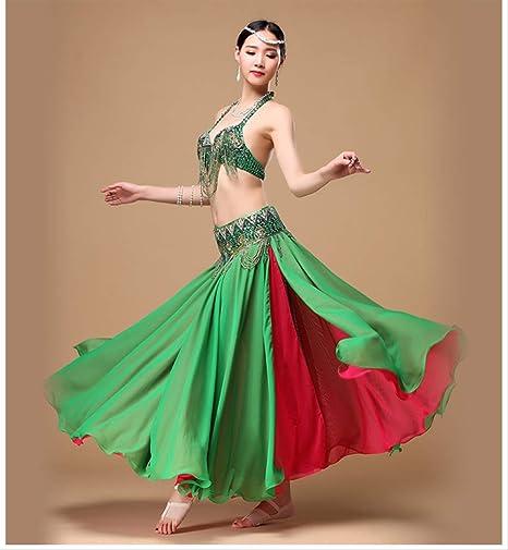KLMWDDPWY Danza del Vientre Mujer Mujeres Calientes Ropa De Danza ...