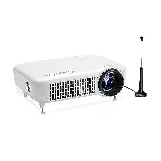 21 opinioni per Exquizon 3000 Lumens Proiettore a LED Videoproiettore 1280x800pixel supporto