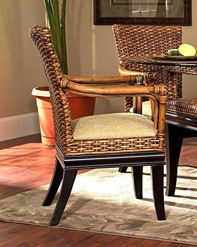 Boca Rattan O Biscayne Rattan Dining Arm Chair Royal Oak, 641 80705-OG-66186-O-253156, Brown (Boca Rattan)