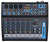 Audio2000'S AMX7323 Professional Eight-Channel Audio Mixer with...