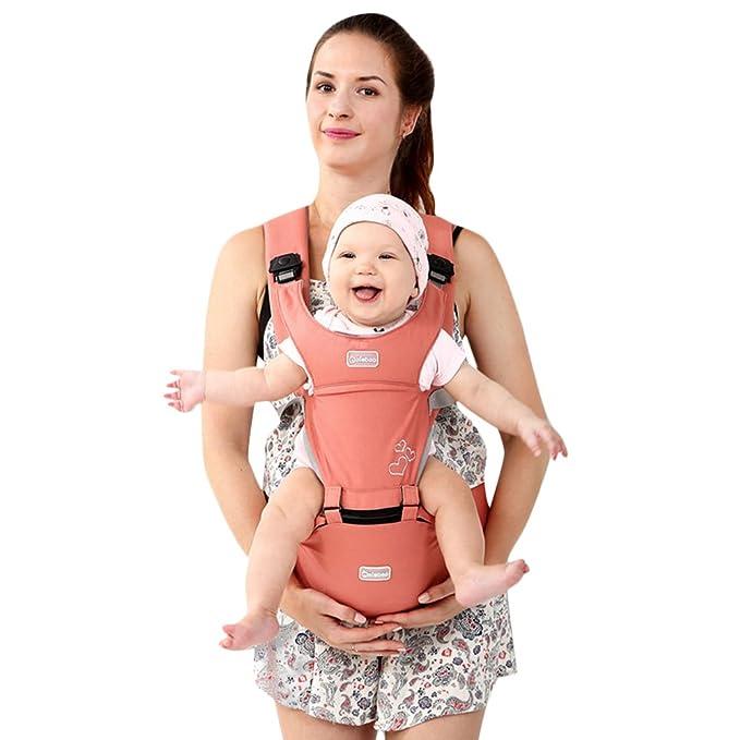 3a83fab5c5ba Kuuboo respirant Porte-bébé Hipseat 4 manières de transport avec assise  amovible, Baby Carrier Infant Comfort pour enfant Tour de taille Tabouret  avant Dos ...