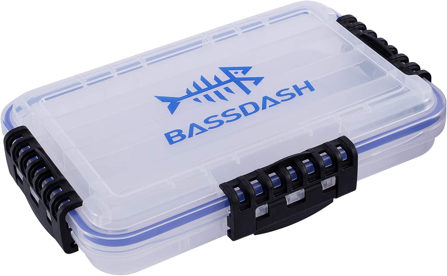 Bassdash 3600 3670 3700 Tackle Storage Waterproof Utility Tackle Boxes Fishing Lure Tray with Adjustable dividers