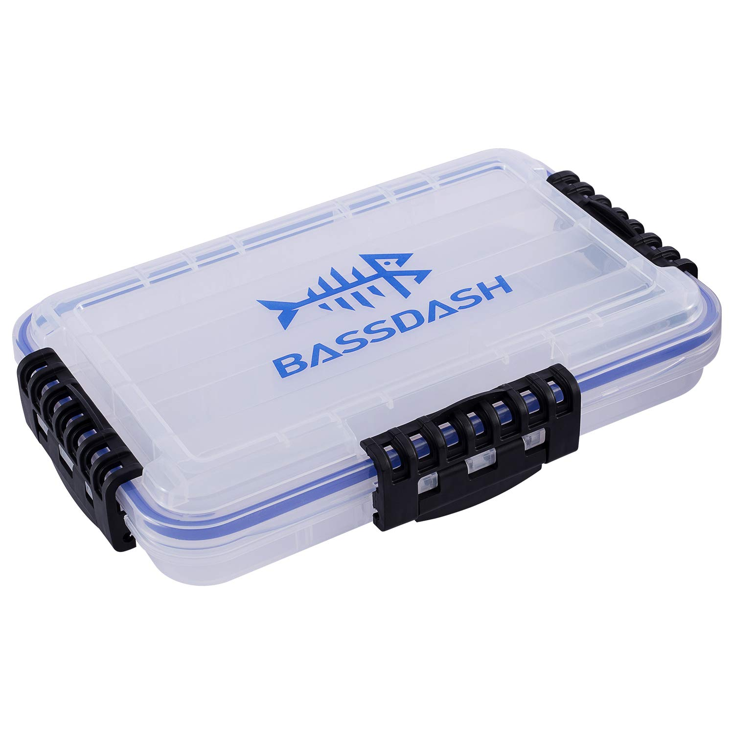 Bassdash 3600 3670 3700 Tackle Storage Waterproof Utility Tackle Boxes Fishing Lure Tray with Adjustable dividers by Bassdash