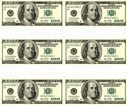 (Art of Eric Gunty 100 Dollar Bill - Designer Strips - Edible Cake Side Toppers- Decorate The Sides of Your Cake -)