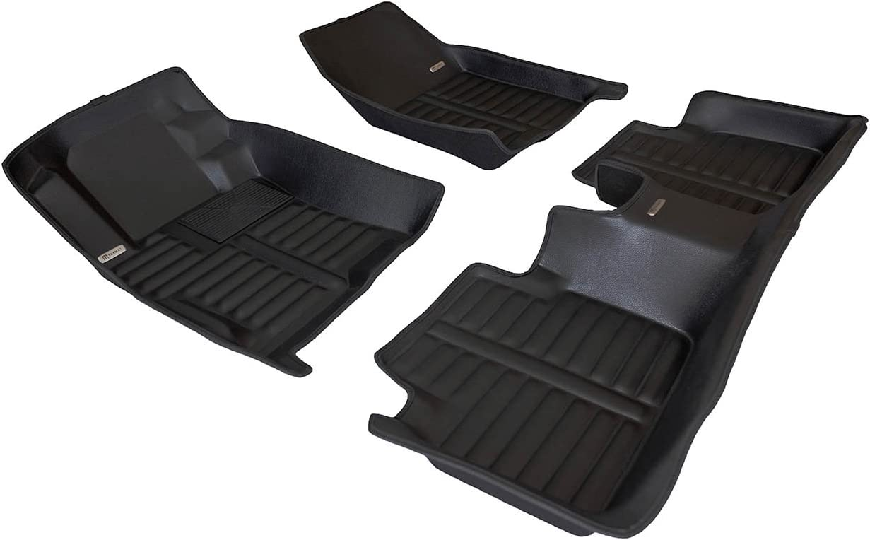 Largest Coverage TuxMat Custom Car Floor Mats for Honda Accord 2008-2012 Models/- Laser Measured Waterproof The Ultimate Winter Mats Also Look Great in the Summer./The Best/Honda Accord Accessory. Full Set - Black All Weather