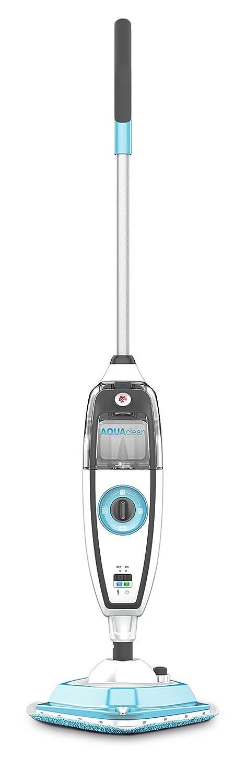 Dirt Devil DD301-0 AquaClean Dampfmopp zur hygienischen Reinigung, Steamboost Funktion, integrierteScheuerbürste, Dampfregulierung, 10 m Aktionsradius, Teppichgleitsohle, weiß/blau weiß/blau