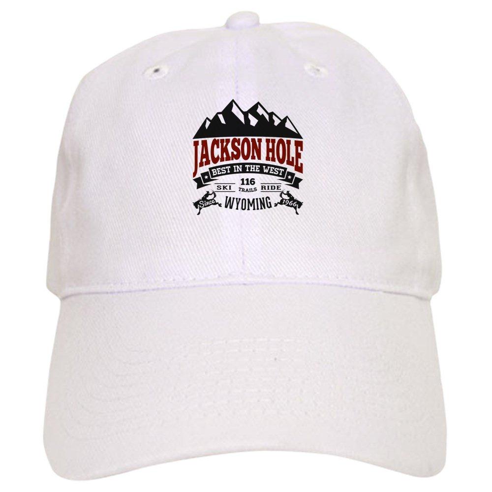 eef1ea86e1485 Amazon.com  CafePress - Jackson Hole Vintage - Baseball Cap with Adjustable  Closure