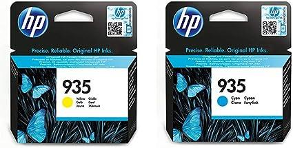 Pack de 2 cartuchos: HP 935 Yellow Original Ink Cartridge y HP 935 Cyan Original Ink Cartridge: Amazon.es: Oficina y papelería