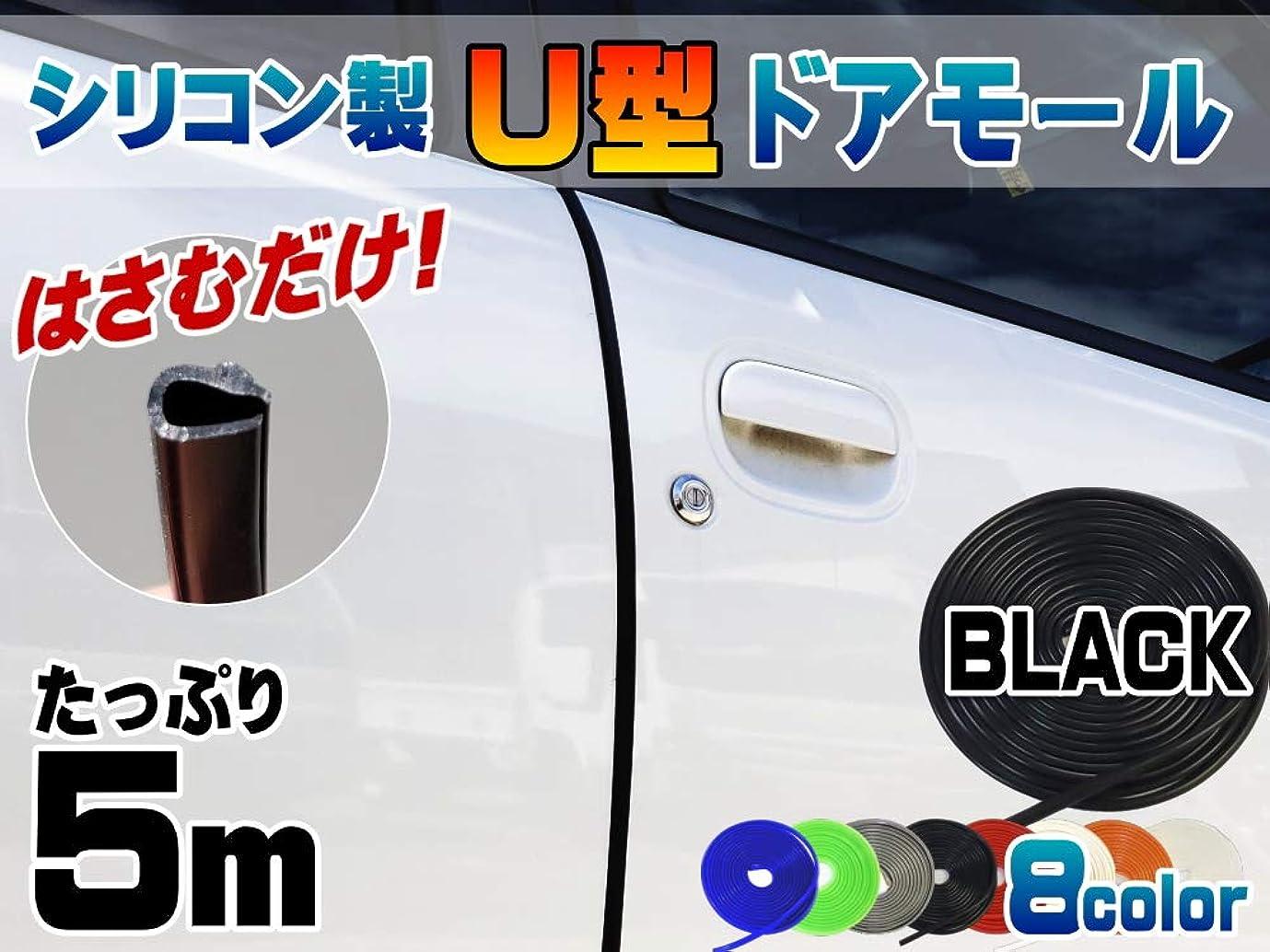 緩やかな端満足できるLoobani 車用ドアモール ウェザーストリップ 静音 風切り音遮断 ブラック 約13mmx5mmx5m 2巻入り 10m B型