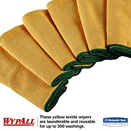 Kimberly-Clark Wypall 83610 Microfiber Cloths with Microban Protection, 15-3/4\