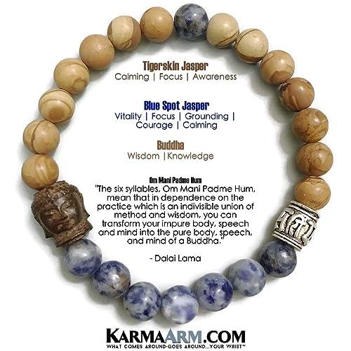 Amazon.com: Om Mani Padme Hum Prayer Wheel: Blue Spot ...