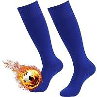 3street Unisex Knee High Triple Stripe/Solid Athletic Soccer Tube Socks
