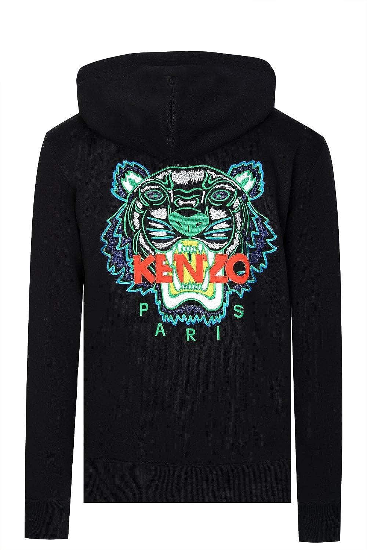 5bf9801a9c1 Kenzo Mens Tiger Zipped Black Sweatshirt/Hoodie at Amazon Men's Clothing  store: