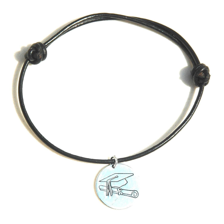 Armband aus Leder mit Anhänger Sterling-Silber MASBARATA F32PC1