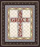 Jim Shore Design Amazing Grace Cross Framed Wall Art, 22 Inch