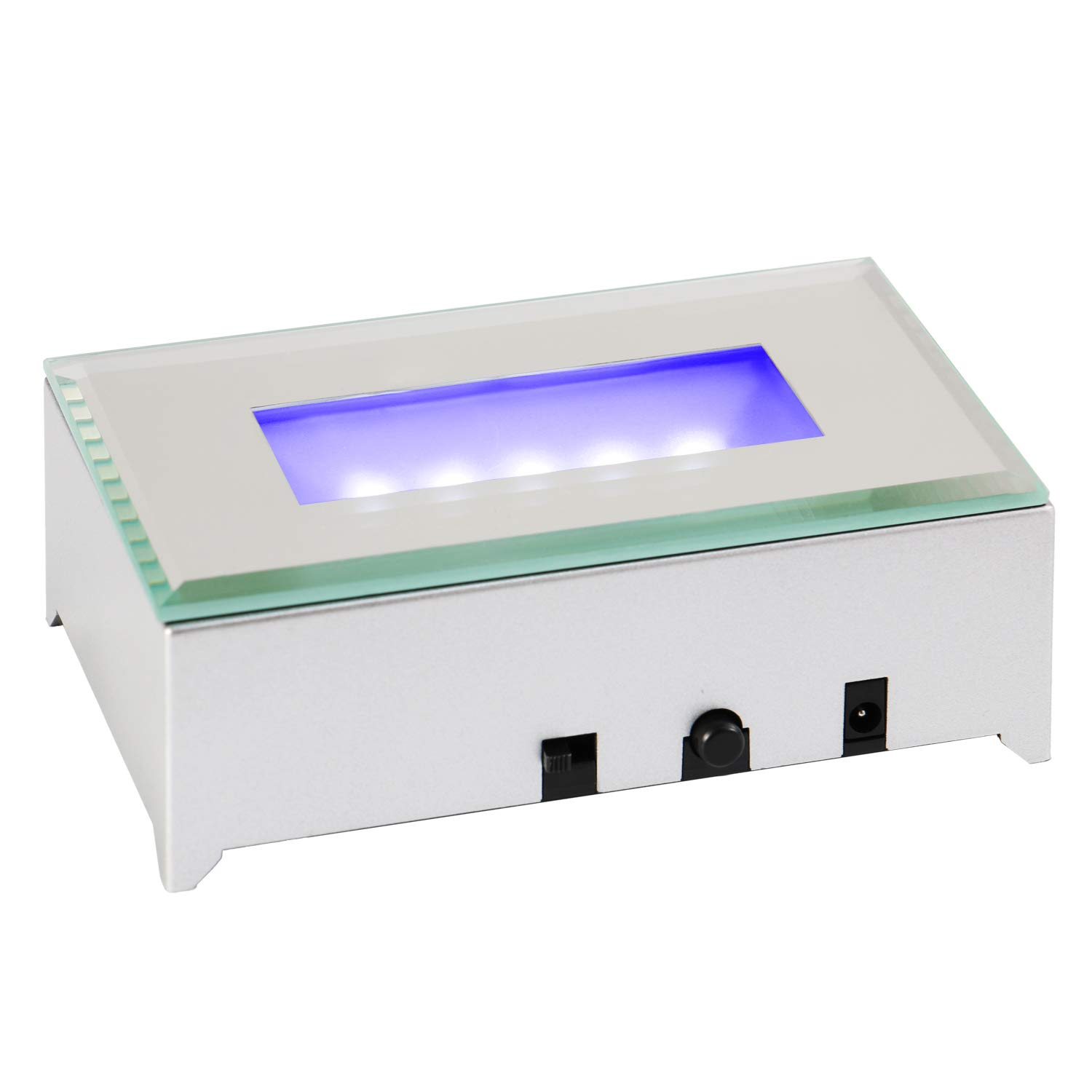 IFOLAINA LED Light Base Multicolor Lighted Stand for Crystal Art Display Rectangle Stand with US Power Adapter