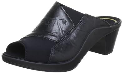 a1681030f Romika Mokassetta 244 Black Leather Slide (6 M US)