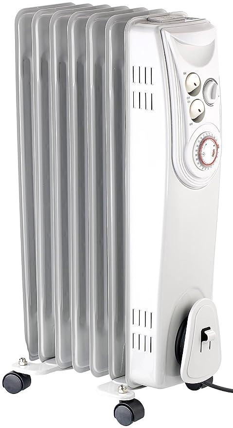 Sichler haushaltsgeräte aceite-radiador con 7 costillas, temporizador, termostato con 3 niveles de