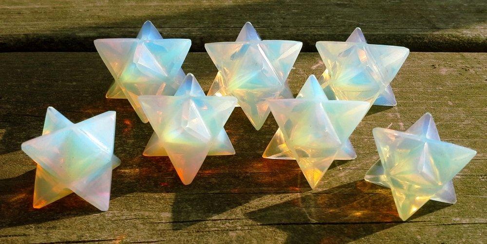 cristal Decor Spiritual Gifts piedra Merkaba Piedra de la eternidad de Star Energ/ía Curaci/ón Meditaci/ón Herramienta Sagrado de la geometr/ía Tetraedro Altar
